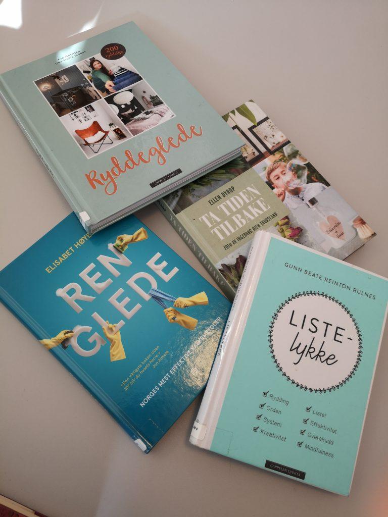 4 bøker om rydding og vasking